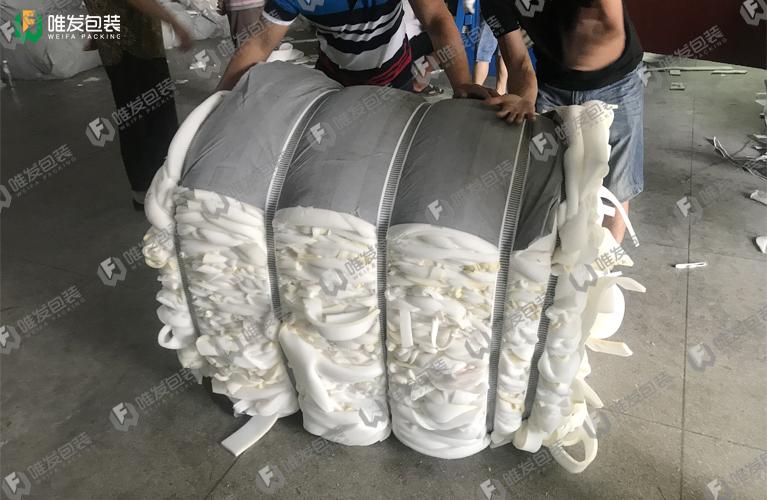 废海绵边角料打包机,海绵液压打包机