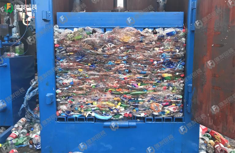 收购站塑料瓶打包机小型垃圾站塑料瓶打包机