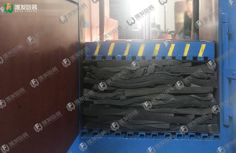 废海绵打包机,皮革边角料打包机,海绵边角料液压打包机